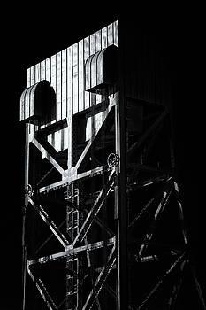Broadway Bridge South Tower Detail 3 Monochrome by Jeremy Herman