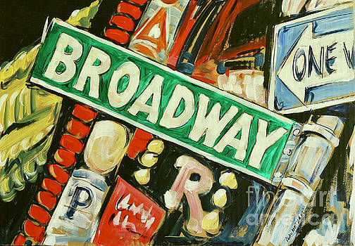 Broadway Street Sign by Alan Metzger
