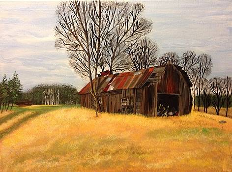 Broken Barn by Helen Kuhn
