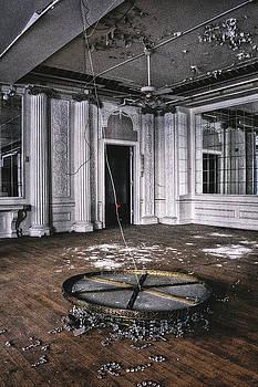 Broken Chandelier in Abandoned Hotel Ballroom by Dylan Murphy