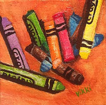 Broken Crayons by Vikki Angel