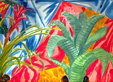 Bromeliads Still life by Jeanette Lindblad