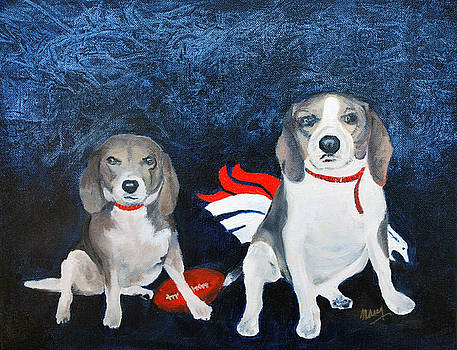 Bronco Beagles by Marcy Silverstein
