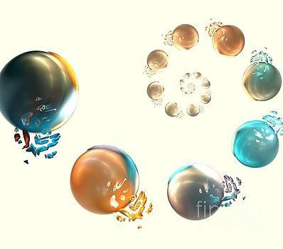 Bronze Sea Orbs by Kim Sy Ok