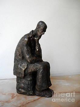 Bronze statue of Thoughtful Man by Nikola Litchkov