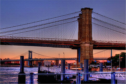 Joann Vitali - Brooklyn and Manhattan Bridge Sunset