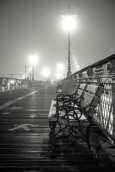 Brooklyn Bridge and Bench, Study 2 by Randy Lemoine