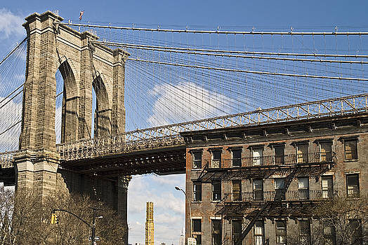 Brooklyn Bridge and Brownstone by Andrew Kazmierski
