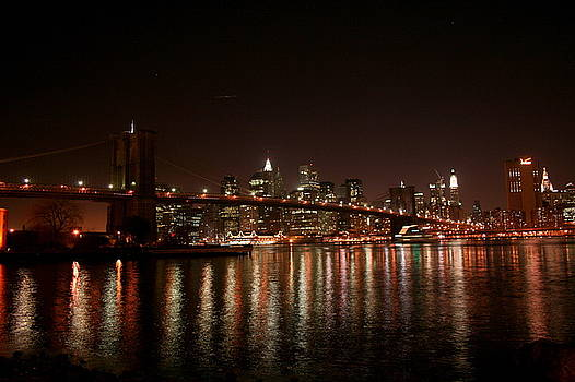 Brooklyn Bridge at Night by Jason Hochman
