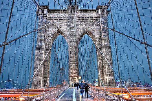 Brooklyn Bridge Before Sunset by Randy Aveille