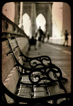 Brooklyn Bridge Bench by Sonia Stewart