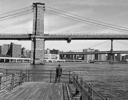 Brooklyn Bridge BW by Andrew Kazmierski