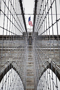 Brooklyn Bridge Flag by Peter Simmons
