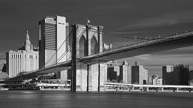 Brooklyn Bridge Infrared by Jerry Fornarotto