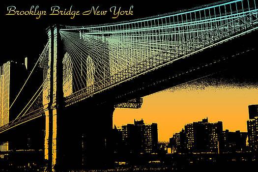 Peter Potter - Brooklyn Bridge New York Poster