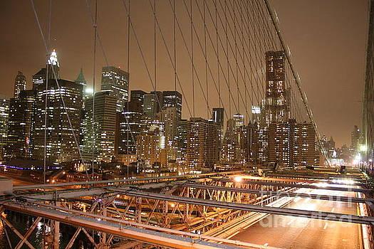 Wilko Van de Kamp - Brooklyn Bridge Night Sky