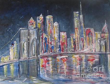 Brooklyn Bridge NY by Jacqui Hawk