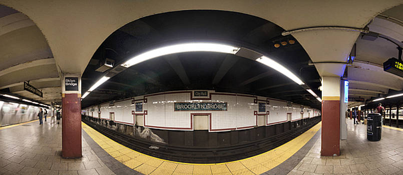 Brooklyn Bridge Station Pano by Dave Beckerman