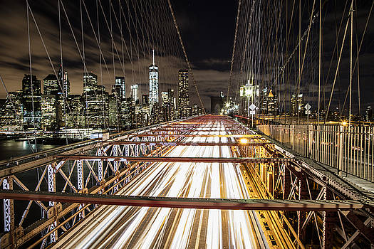 Brooklyn Bridge Streaks by John McGraw