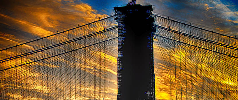 Brooklyn Bridge Sunset by Steve Archbold