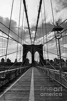 Brooklyn bridge vertical by Delphimages Photo Creations