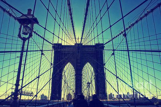 Brooklyn Bridge Wide Angle by Nishanth Gopinathan