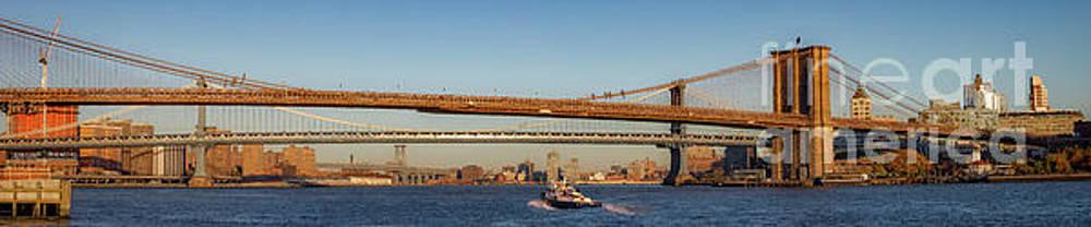 Brooklyn Manhattan Williamsburg Bridges by Jerry Fornarotto