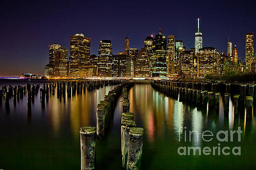 Brooklyn Pier At Night by Az Jackson