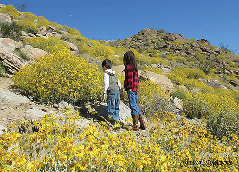 Brother and Sister amongst Desert Blooms by Mariecor Agravante