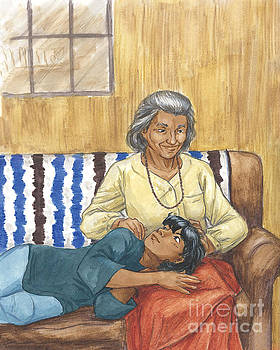 Brother Wolf - Grandmother's Lap by Brandy Woods