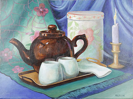 Brown Betty with Tea for Two by Margi Greene