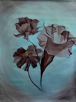 Brown Flowers by Lorna Diwata Fernandez