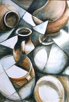 Brown Pots by Diane Agius