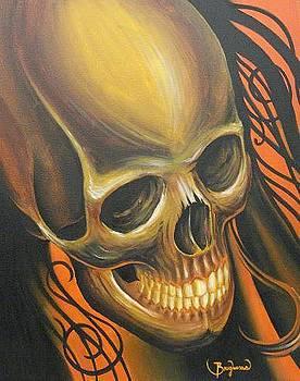 Brown skull by Nephtali Brugueras  jr