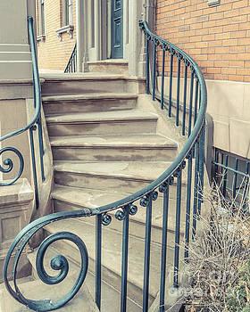 Walkup Brownstone Stairs Providence Rhode Island by Edward Fielding