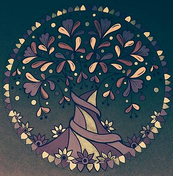Brown tree5 by Jilly Curtis