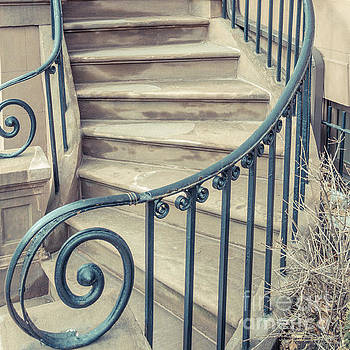 Brownstone Staircase Square by Edward Fielding