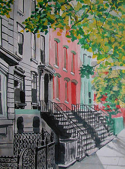 Brownstones Jersey City by Lucille Femine