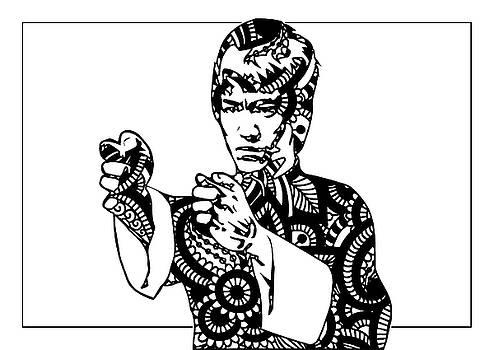 Ricky Barnard - Bruce Lee Illustration