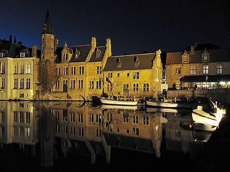 Bruges at Night #2 by John Vriesekolk