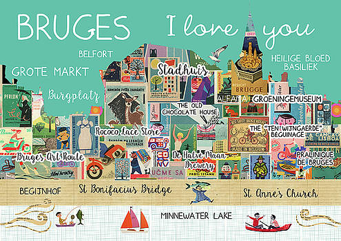 Bruges I love you by Claudia Schoen
