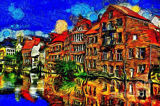 Bruges Town Belgium by Milan Karadzic