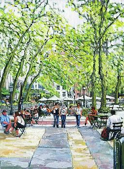 Bryant Park NYC by Thomas Michael Meddaugh