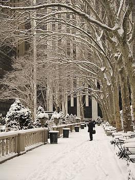 Bryant Park Snow by Andrew Kazmierski