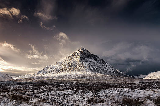 Buachaille Etive Mor Winter Sun by Scott Masterton