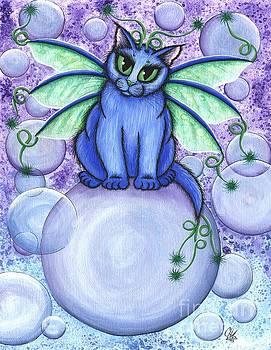 Bubble Fairy Cat by Carrie Hawks