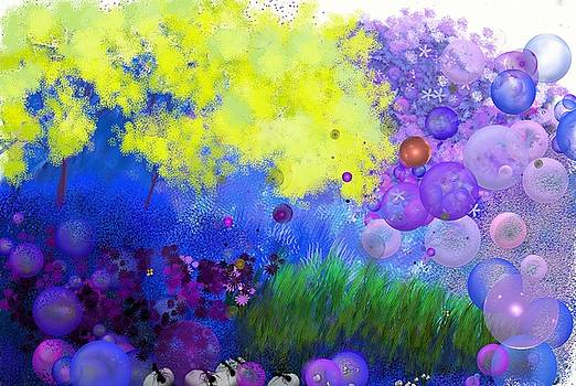 Bubble landscape by Daniela Ionesco