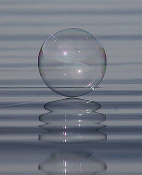 Bubble on Ripples by Cathie Douglas