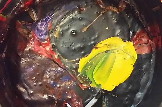 Bubbly Hard Drive Is Toying With A Lemon by Gyula Julian Lovas