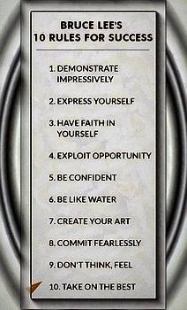 Buce Lee 10 Rules of Success by Mario Carini